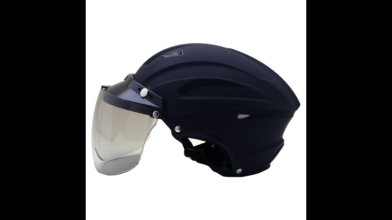 ネオライダース NEO RIDERS MAX 3 シールド付 ハーフヘルメット マットブラック