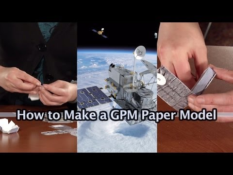 Papercraft GPM Core Observatory: Paper Model How-To