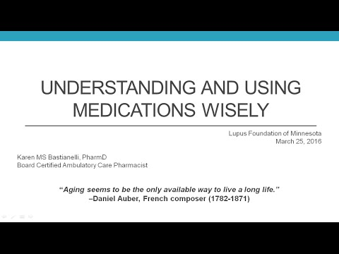 WEBINAR: Understanding and Using Medications Wisely