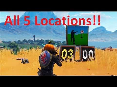 FORTNITE Battle Royale - Shooting Gallery Locations In Depth, Quick And Easy