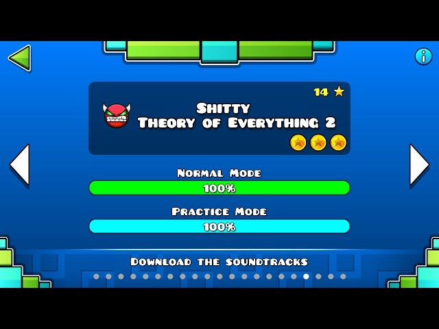 Geometry Dash - Shitty Theory of Everything 2 100% Complete (All 3 Coins)