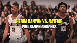 Cassius Stanley & Sierra Canyon Hand Josh Christopher & Mayfair a Loss - Full Highlights