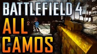 Battlefield 4: ALL CAMOS - NEW FIRE + CRIMSON CAMO! (Battlefield 4 BF4 Gameplay Xbox One PC)