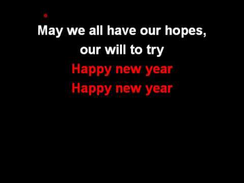 ABBA - Happy New Year (караоке, минус)