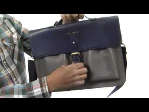 8173ad3367f32c Ted Baker - Harlemm Mixed Leather Satchel SKU  8233737 - YouTube