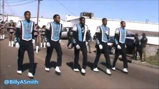 Jackson State J5 Drum Majors of the Sonic Boom at 2016 Martin Luther King Parade (Kenneth Stokes)