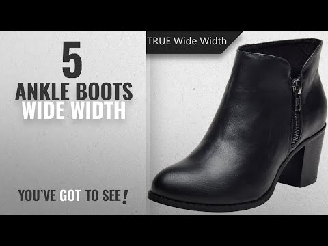 Top 5 Ankle Boots Wide Width [2018]: Plus Size Short Ankle Boots for Women, Autumn Winter Spring
