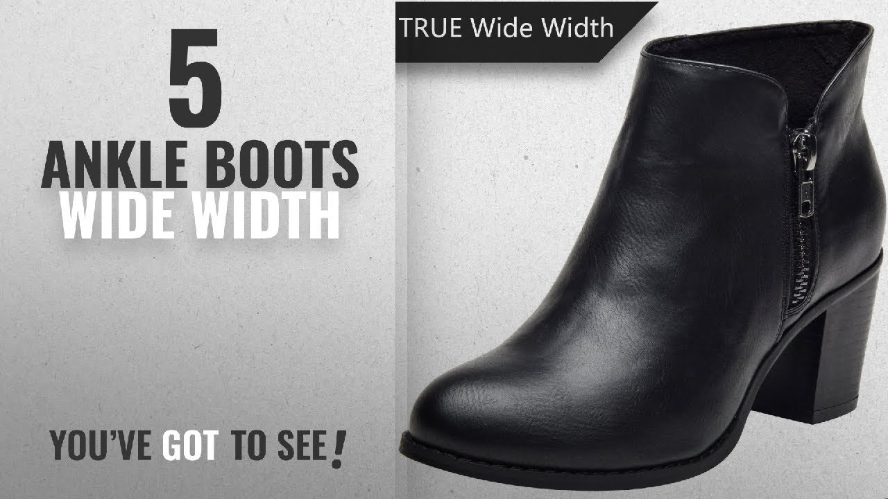 1b804fa00a270 Top 5 Ankle Boots Wide Width [2018]: Plus Size Short Ankle Boots for ...