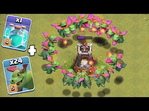 MAX LVL 5  BABY DRAGONS + CLONE SPELLS!! (New Update Troll ) Clash of clans