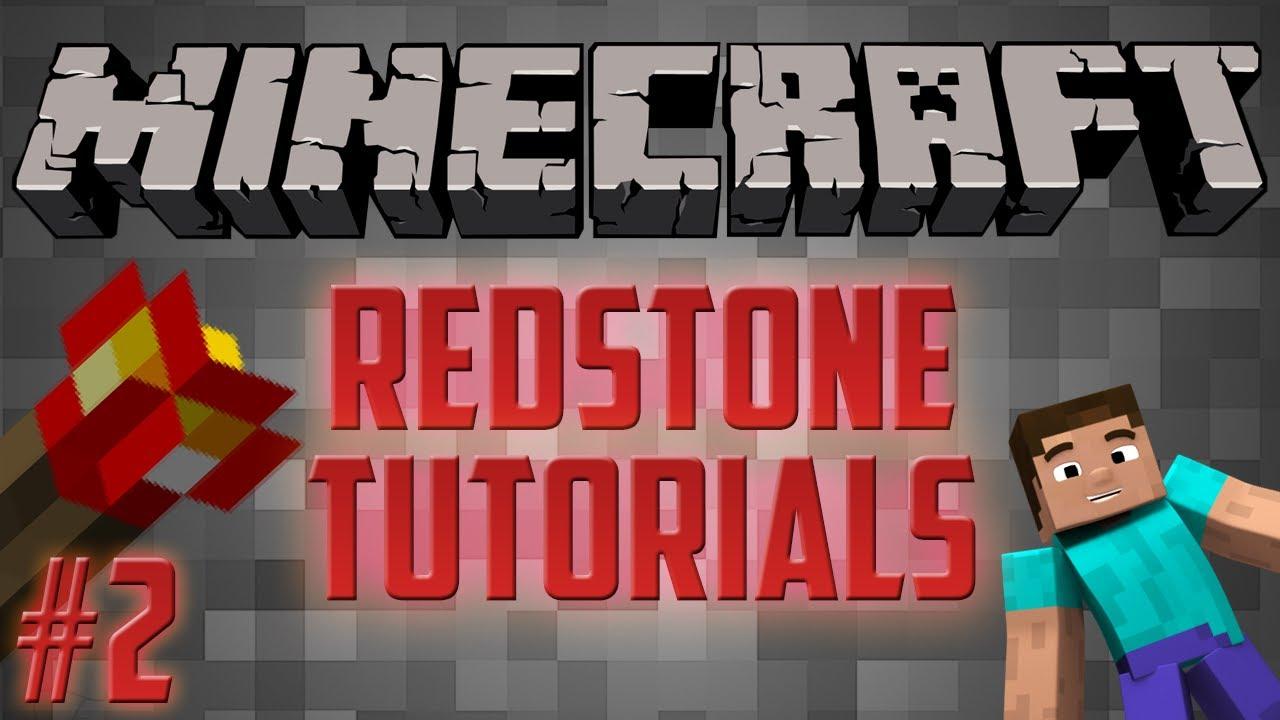 Minecraft 1 8 Redstone Tutorial #2 - Basic Redstone Creations