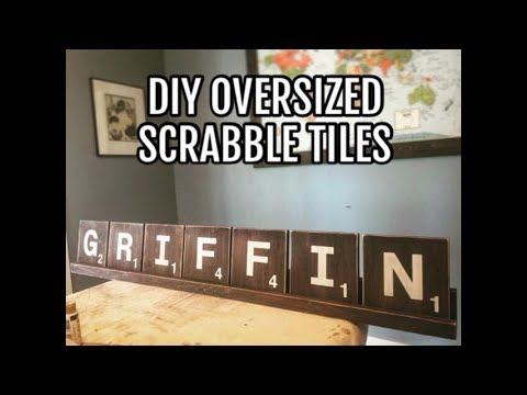 DIY Oversized Scrabble Tiles