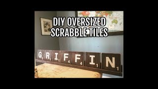 DIY Oversized Scrabble Tiles