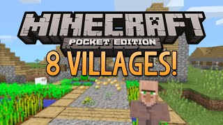 8 VILLAGES SEED! - Minecraft Pocket Edition 0.9.0 (Best Village Seed)
