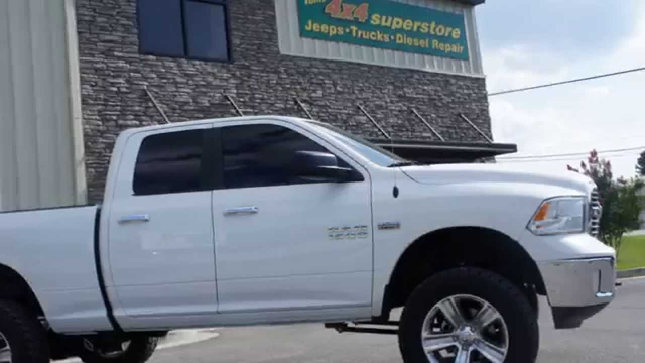 Ram 1500 with 6 inch Rough Country Lift - YouTube