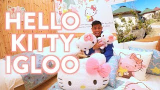 World's ONLY Hello Kitty Wooden Igloo Hotel in Japan