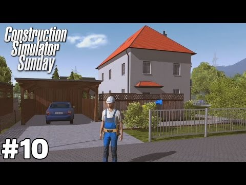 A New Excavator and Single-Family House with Large Balcony - Construction Simulator Sunday [ep10]