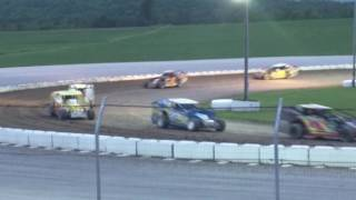 1st 25 lap Modified Feature at Devil's Bowl Speedway on 6/12/16..