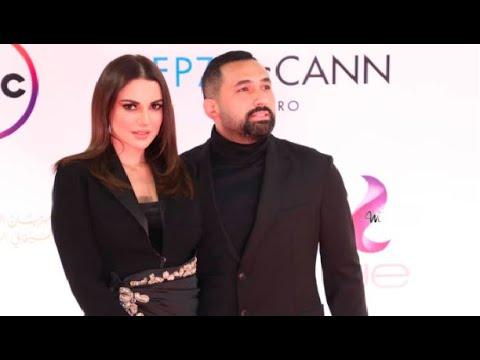 أول ظهور للفنانة درة وزوجها رجل الأعمال هاني سعد بعد زواجهم في مهرجان القاهرة السينمائي