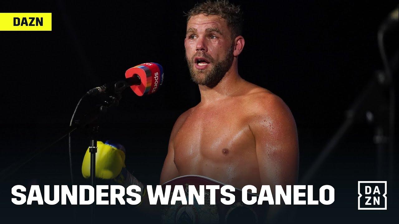 Billy Joe Saunders' camp says 'no fight' vs. Canelo Alvarez if ring ...
