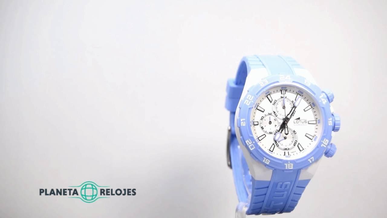 455bc0ecd970 Reloj Lotus 15800 9 - YouTube