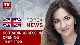 InstaForex tv news: 19.02.2020: Nothing can halt USD steady rally (USDХ, EUR, CAD)
