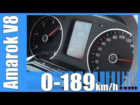 VW Amarok MTM 4.2 TDI V8 410 HP 0-189 km/h NICE! Acceleration