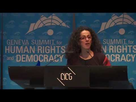 Presentation of the 2015 Geneva Summit Women Rights Award to Masih Alinejad