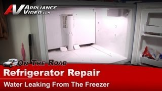 Refrigerator Diagnostic & Repair-Water leaking,Kenmore,Sears,Whirlpool,KitchenAid,Roper