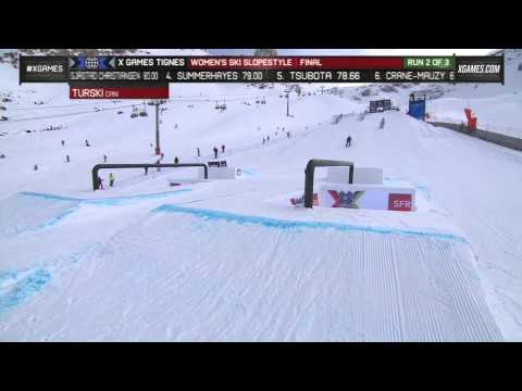 Kaya Turski four-peats at X Games Tignes