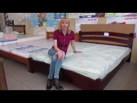 Деревянная кровать Рушнычок.  Фабрика Темп.  Купить кровать в Запорожье  Экомебель