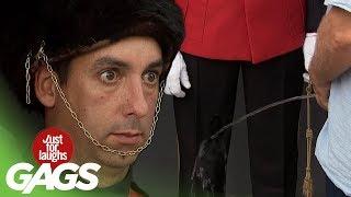 Blind Man Pisses On Royal Guard !
