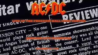 AC/DC That's The Way I Wanna Rock 'N' Roll LIVE: Johnson City,1988 Soundboard HD