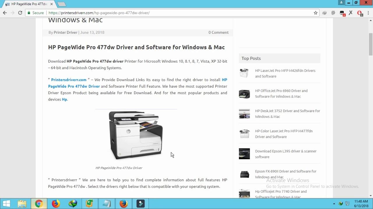 hp officejet pro x476dn mfp drivers