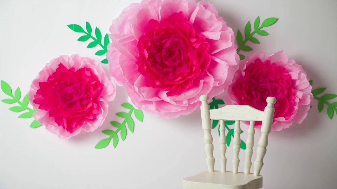 Behind-the-scenes: decoración con flores de papel para una mini sesión de niñas
