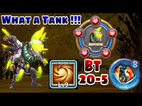 Asura | 9/9 Sacred Light | 8 Stone Skin | BT - 20 | What A Tank | Raids/Dungeon | Castle Clash
