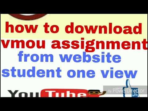 how to download vmou assignment full tutorial/sessional work download/सत्रीय कार्य कैसे डाउनलोड करे?