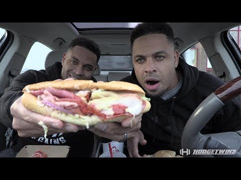 Eating Arby's Loaded Italian Sandwich @hodgetwins