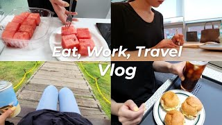 [eng] 직장인 브이로그 | 먹고 일하고 여행하는 일…
