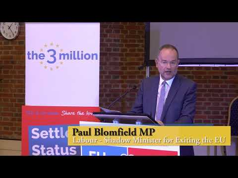 PAUL BLOMFIELD MP  LABOUR  SHADOW MINISTER FOR EXITING THE EUROPEAN UNION