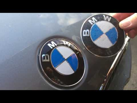 quickest-easiest-bmw-badge-swap.-no-tools!-bonnet-hood-trunk-remove-boot-emblem-change-wechseln-car