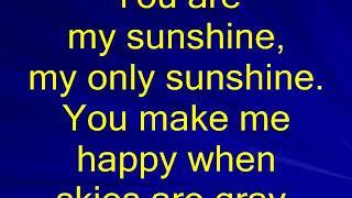 You Are My Sunshine karaoke
