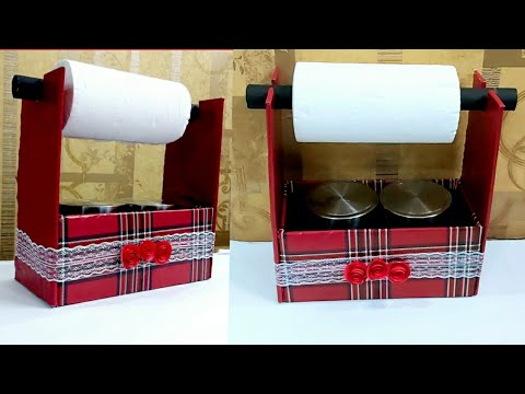 Useful Cardboard Box Craft For Kitchen Diy Organizer For Kitchen Cardboard Box Reuse Idea Youtube
