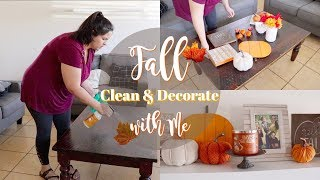 FALL Clean & Decorate with Me || 2018 HOME DECOR