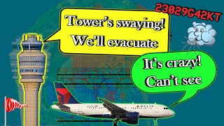 CHAOS AT ATLANTA DUE TO EXTREME WINDS | Tower Evacuated