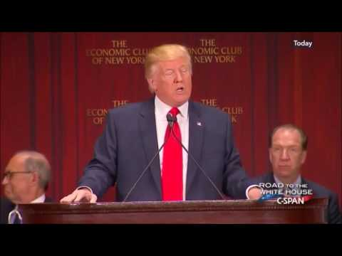 Donald Trump: Policy Address at the New York Economic Club