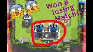 Won a losing match!! { Clash Royale}