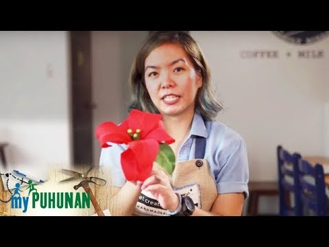 Handmade Blooms owner Joy Patanindagat shows how to make poinsettia paper flowers | My Puhunan