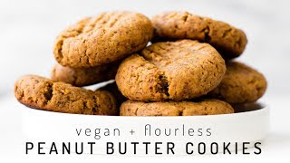 Easy Peanut Butter Cookies   flourless, fruit-sweetened, only 5 ingredients!