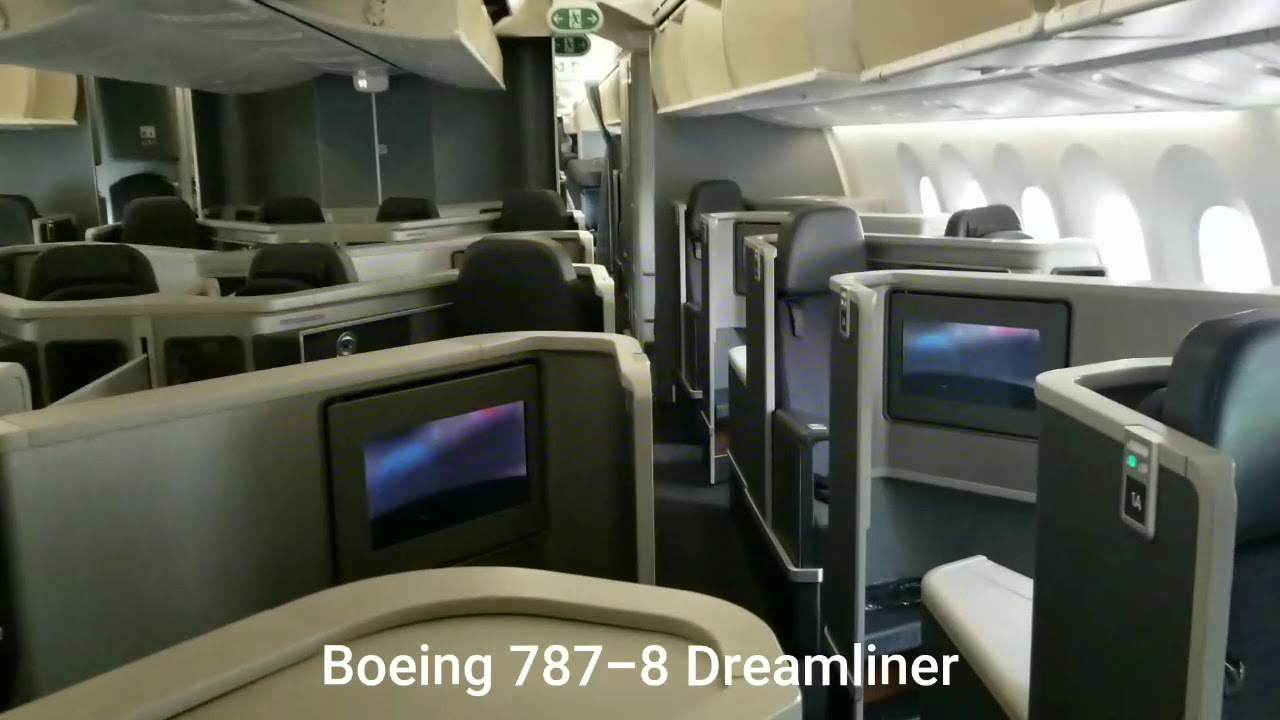 american airlines cabin tour boeing 787 8 dreamliner youtube