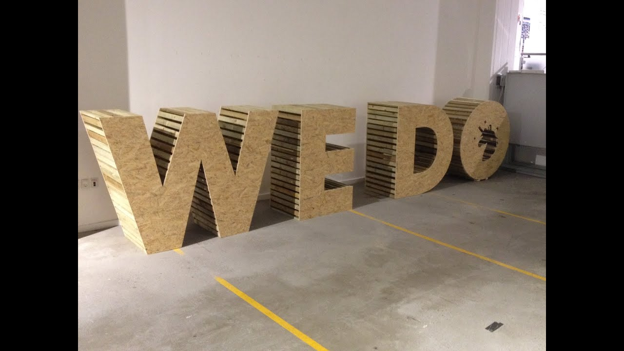 Digitaslbi denmark 39we do39 wooden letters timelapse youtube for Making wooden letters